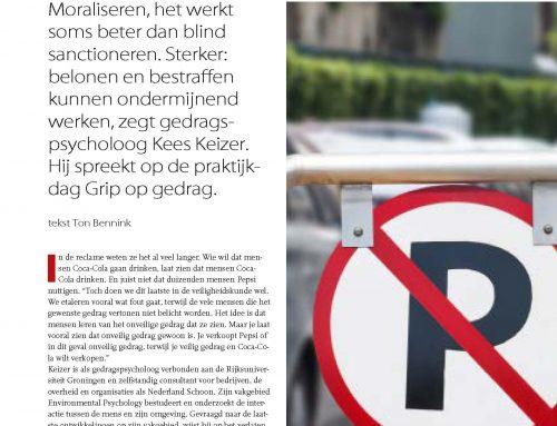 Interview in vakblad Arbo over grip op (veiligheids)gedrag