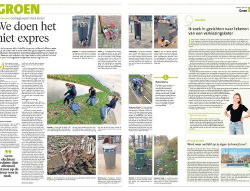 """Interview over """"zwerfafval en koffie-to-go"""" In Noordhollandsdagblad"""